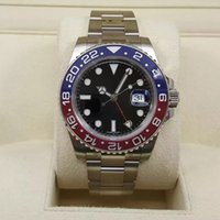 Wholesale men watches sapphire glass - 2018 ROLES ceramics Pepsi bezel AAA quality GMT mens watch red blue watch sapphire glass original Stainess clasp watch men wristwatch