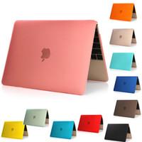 macbook крышки 13 дюймов оптовых-Для Macbook 11.6 12 13.3 15.4 Air Pro Retina Прорезиненный матовый жесткий чехол Полный защитный чехол