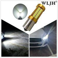 Wholesale p21w led white canbus - WLJH Canbus 20W 1156 BA15S P21W LED Bulb Car Backup Reverse Lights Lamps for BMW 228i 320i 328d 328i 335i M3 X4 2015