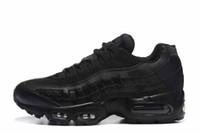 zapatos auténticos para hombres al por mayor-Envío de la gota al por mayor Zapatos Runner Hombres Airs Cushion 95 OG Sneakers Boots Auténticos 95s Nuevo Walking Discount Sports Shoes Tamaño 36-46