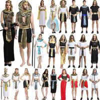 traje do dia das bruxas egípcios venda por atacado-Trajes de Halloween Menino Menina Antigo Egipto Faraó Egípcio Cleópatra Príncipe Princesa Traje Crianças Crianças Roupas de Festa Cosplay GGA1260