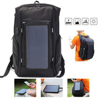 Wholesale business travel backpack - Outdoor Travel Solar Panel Backpack Laptop Bag USB Charger Duffel Bag Big Capicity Business Backpack NNA274