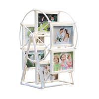 dönme dolap hediye toptan satış-5 inç Beyaz Fotoğraf Çerçevesi Resim Çerçeveleri Dönme dolap Fırıldak Şekli ile heykel 12 adet fotoğraf Ev Dekor Yeni Hediye