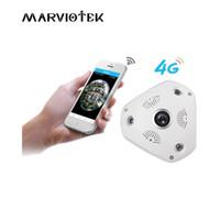 câmeras ip 3mp venda por atacado-3G / 4G LTE câmera IP sem fio sim card 3MP alarme câmera de vigilância vr 360 grau ip ptz veículo 960 P com Slot Para Cartão SD