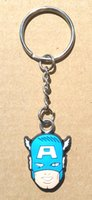 Wholesale led solar bottle lights online - Hot Captain America super heroes Custom d soft pvc keychain key chain Soft Rubber Keychains Silicone Keyring