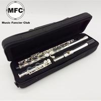 16-канальная флейта оптовых-Бесплатная Доставка Новый MFC Флейта 16 Отверстия Закрыт Посеребренная Музыкальный Инструмент