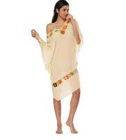 couvrir robe fleur achat en gros de-Mode féminine Baggy Batwing manches robe Summer Beach Sexy femmes Crochet fleur épissage robe Cover Up Maillots de bain maillot de bain LJJB3