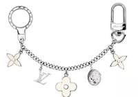 Wholesale wood key chains resale online - FLEUR D EPI BAG CHARM CHAIN Christmas Gift KEY HOLDERS CHARMS TAPAGE BAG CHARM KEY Belts Jewelry