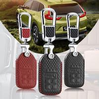 chave fob cobrir honda venda por atacado-Smart Key Keyless Entrada Remota Fob Caso Capa com Corrente Chave Para Honda CRV / URV