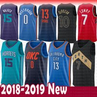 Wholesale men s basketball 13 online - 7 Kyle Lowry Demar DeRozan Toronto Raptors Jersey Paul George Oklahoma City Russell Westbrook Thunder Hornets Kemba Walker