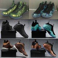 bronz adam toptan satış-Penny Hardaway Bir Bakır erkek Basketbol Ayakkabıları Bronz Altın Pro Galaxry One 1 s Moda Spor Eğitim Sneakers
