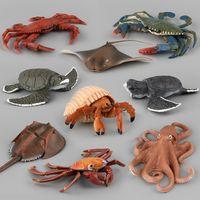 Wholesale Sea Animals Figure Model Toys Set Realistic Ocean Creatures Action Models Kids Education Cognitive Toy Sea Animal Decoration DJK5858
