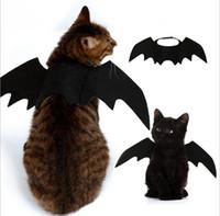 flügel für kostüme großhandel-Lustige Katzen Cosplay Kostüm Halloween Pet Fledermausflügel Cat Bat Kostüm Fit Party Hunde Katzen Spielen Haustier Zubehör Top-qualität