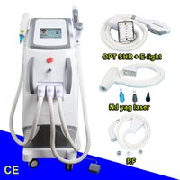 Wholesale equipment lips for sale - Multifunction ipl laser rf nd yag laser equipment ipl laser hair removal for dark skin long pulse nd yag lip lines remover