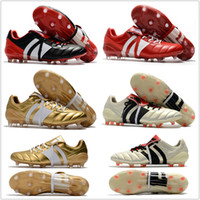 Wholesale Core Quality - 2018 Best Quality Predator Mania ACE 17+ Purecontrol Champagne FG Soccer Boots Football Boots White Core Mens Cleats Shoes Size 39-46