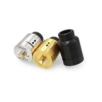 Wholesale Post Fittings - LUCD 24mm RDA Dual Posts RDA Atomizer E Cigarette Vaporizer 24mm Diameter Vape Tank Fit 510 Box Mods With Wide Bore Driptips
