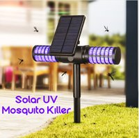 asesino de mosquitos uv al por mayor-Mosquito Killer UV LED Lámpara IP65 Impermeable Trampa de insectos Luz Solar / USB Carga Interruptor automático Mosquito Ant Fly Bug Iluminación
