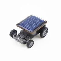 mini güneş araba yarışçısı toptan satış-Yüksek Kalite Küçük Mini Araba Güneş Enerjisi Oyuncak Araba Racer Eğitim Gadget Çocuk çocuk Oyuncakları Sıcak Satış