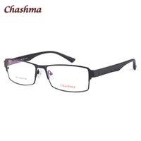 grandes monturas de gafas al por mayor-Chashma Diseñador de la marca Gafas Marco grande Estilo de negocios Hombres Gafas de ojo Gafas ópticas Marco ancho para gafas de hombre Big Face