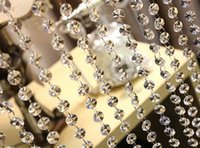 akrilik 14 mm kristal toptan satış-Akrilik 99 Ft Ücretsiz Kargo, Garland 14mm Akrilik Kristal Sekizgen Boncuk Garland Strand, Düğün Parti Dekorasyon,