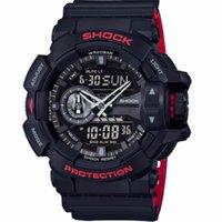 mostrar reloj deportivo al por mayor-Moda Hombres Deportes Relojes digitales reloj de cuarzo LED de dial 30M impermeable de doble pantalla de pulsera Relogio Masculino
