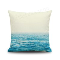 Wholesale ocean case online - Ocean sea river starry sky universe painting pillow case Cushion cover sofa car office home decorative cm pillowcase