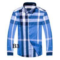 erkekler gömleklik gömlek satışı toptan satış-2018 sıcak satış 100% pamuk erkek Moda Ekose Gömlek Tam kollu casual gömlek camisa sosyal masculina chemise homme