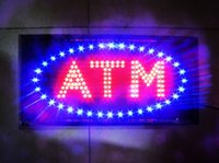 Wholesale led electronic signs - Wholesale acrylic surface ATM letter for bank led open sign  Electronic ATM sign