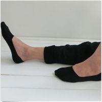 случайные чернокожие мужчины бездельники оптовых-Wholesale- 5 Pairs Men's Socks No Show Slipper Loafer Boat Socks No Show Soft Casual Cotton Sock for Men White Black Gray Socks