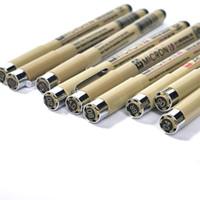Wholesale stationery wholesalers online - 1 gel pen set Drawing Pen set Sakura Pigment liner Micron Drawing Brush Stationery Animation Art Supplies Archival Ink