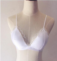 dünne spitze großhandel-Sommer neue sexy Spitzen-BH Träger dünne Schultergurte eingewickelt Brust tief V mit Dreieck BH Unterwäsche Sling Bikinis