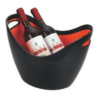 diseños de herramientas de hielo al por mayor-Barra Champán Barril de vino tinto Diseño atractivo Sólido de plástico de doble capa Oro Lingote KTV Capacidad de la capacidad del cubo de hielo 35hy2 X