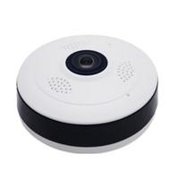 wifi webcamüberwachung großhandel-Fisheye VR-Panoramakamera HD 1080P 1.3MP Wireless Wifi IP-Kamera Überwachungskamera für Privatanwender Wi-Fi 360-Grad-Webcam V380