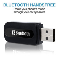 Wholesale blister car - USB Bluetooth Wireless Car Kit receiver transmitter car audio aux mm Music Receiver audio adapter Handsfree For Phone Retail Box