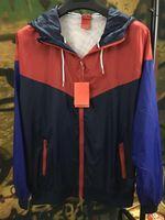 uzun ince ceket erkek toptan satış-Mens Marka Ceketler Bahar Sonbahar Windrunner Ince Ceket Spor Ceket Moda Kontrast Renk Uzun Kollu Aktif Erkekler Ceketler M-3XL