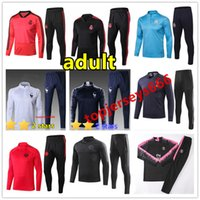 Wholesale New psg Mens tracksuit real madrid FR chandal marseille juventus soccer Tracksuit jacket mbappe ronaldo football training suit