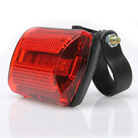 Discount wholesale road warning light - 5 LED Bike Rear Tail Red Bike Back Light Mountain Road Seatpost Tail Safety Cycling Warning Lights(Without Battery)
