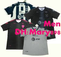 Wholesale Project Blue - Top Thai quality 17 18 Mexico Monterrey Club home soccer Jersey 2017 2018 away Project Pink 3rd football shirt S--XL