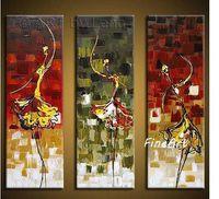 benzersiz soyut tuval resmi toptan satış-Modern soyut art deco yağlıboya bale dansçıları dans kız tuval duvar sanatı dekoratif boyama benzersiz hediye Kungfu Sanat