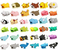 Wholesale accessory pig for sale - Group buy Hot Cable Bite styles animal bite cable Protector Accessory toy cable bites dog pig elephant axolotl for iPhone smartphone Charger Cord