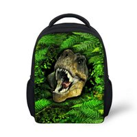 Wholesale cool backpacks for boys - Noisydesigns Green Cool School Bags Print Fierce Beast Schoolbag for Primary Boys High College Student Bookbags Travel Bag