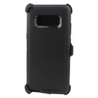 ingrosso caso del difensore s6-Custodia protettiva Defender Drop DUST Custodia protettiva per cintura Multi-Layer Custodie anti-sporco per Samsung S5 S6 S7 S8 S8 + Note8 DHL