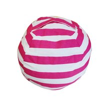 kinderzimmer stühle großhandel-Beliebte 63 cm Kinder Lagerung Sitzsäcke Plüschtiere Sitzsack Schlafzimmer Kuscheltier Raummatten Tragbare Kleidung Aufbewahrungstasche 4 Farben