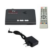 sintonizador de tv hdmi al por mayor-Freeshipping Digital Terrestre HDMI 1080 P DVB-T / T2 Receptor de TV VGA AV CVBS Sintonizador Ontvanger Met Afstandsbediening HDMI HD 1080 P VGA