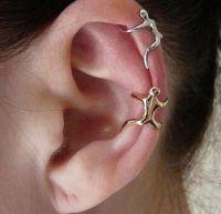 aretes de oro para cartilago al por mayor-Uk Hot Silver Gold Earrings Clip de oreja Climbing Man Naked Climber Ear Cuff Helix Ear Clip Cartilage Pendientes para mujeres 20pcs Accesorios