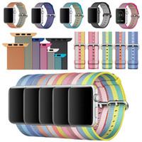 китайские наручные часы оптовых-Новый плетеный нейлоновый ремешок на запястье браслет для Apple Watch серии iWatch 38 / 42MM Китай Продам