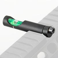 ingrosso rotaie accessorie-Livella a bolla d'aria in lega per 11mm Picatinny Weaver Rail Tactical Rifle / Airsoft Scope Level Accessori per la caccia CL33-0215