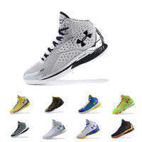 Wholesale blue curry - Under Armour UA The Moment MVP PE USA 30 Stephen Curry 1 Champion men basketball shoes Athletic Sports Sneakers Cushion trainers