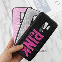 Wholesale Apple Iphone Colors - PINK Cover Fashion Design Glitter 3D Embroidery Love Pink Phone Case For iPhone X, iPhone 8, Samsung S9, S9 Plus colors