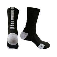 Wholesale cycling socks coolmax resale online - Brand Outdoor Sport quick dry Socks New Elite Cycling Socks Men Long Coolmax Basketball Soccer Athletic Socks DHL